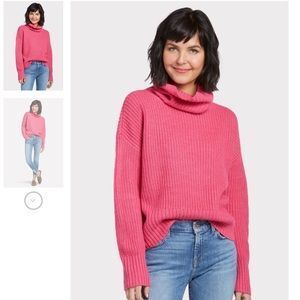 EVEREVE •Sanctuary• Roll Neck Hot Pink Sweater (S)
